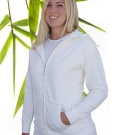 Bamboe vest off white