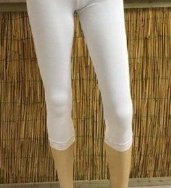 Bamboe capri legging wit