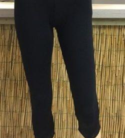 Bamboe capri legging zwart