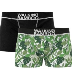 Heren bamboe boxershorts 2-pack Forest