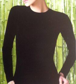 Bamboe (onder)shirt - lange mouw wit