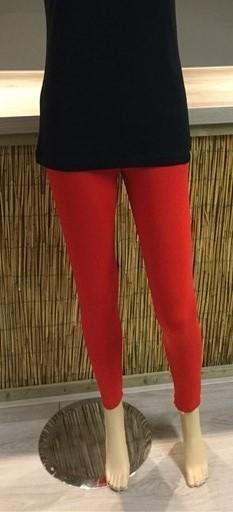 Bamboe legging rood