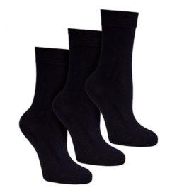 bamboe sokken zwart 3 paar - S31